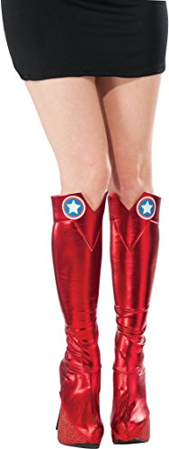 Marvel Rubie's Women's Universe American Dream Boot Tops, Multi, One Size