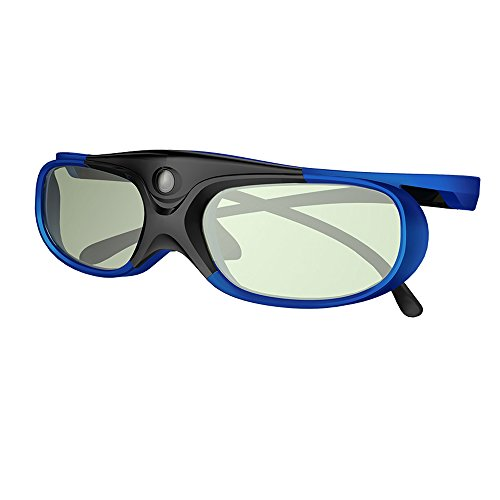 DLP Link 3D Glasses, GooDee Ultra-Clear HD 144 Hz 3D Active Rechargeable Shutter Glasses for All 3D DLP Projectors-BenQ, Optoma, Dell, Mitsubishi etc.