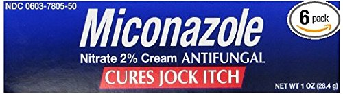 Miconazole Nitrate 2 % Antifungal Cream - 1 Oz (Pack of 6) (Antifungal Miconazole Cream)