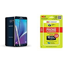 "Straight Talk Samsung Galaxy Note 5 32GB ""Black Sapphire"" on AT&T 4G LTE"