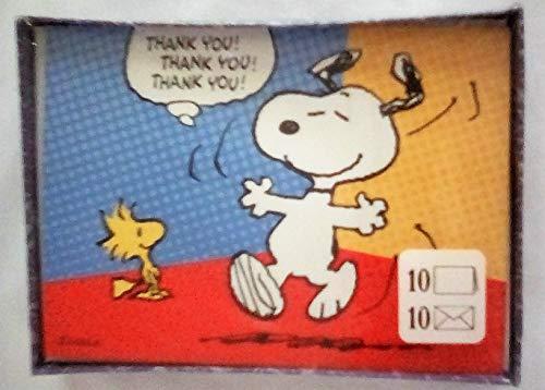 New Hallmark Box Peanuts Snoopy & Woodstock Thank You Note - Thank Snoopy You