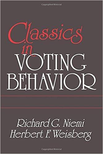 Book Classics In Voting Behavior Edition