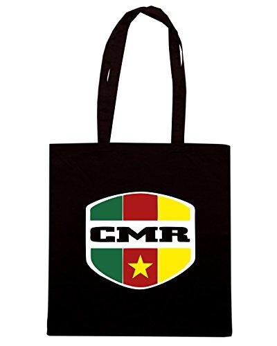 T-Shirtshock - Bolsa para la compra WC0159 CAMEROON Negro