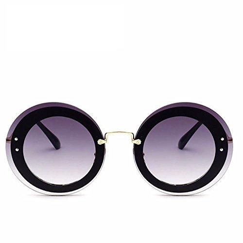 New Round Sun Glasses Women Design Translucent Sun Glasses Woman Oculos De Sol ()