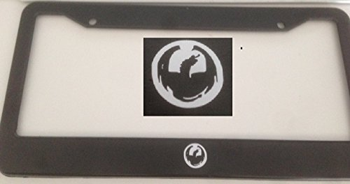 Skate Dragon - Dragon Skate - Automotive Black License Plate Frame - Gamer Style Skater Hawks