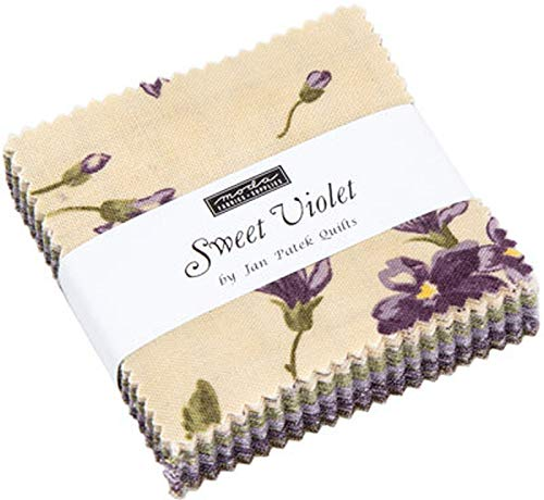 Sweet Violet Mini Charm Pack by Jan Patek Quilts; 42-2.5