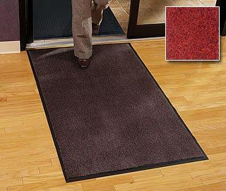 Walk Off Floor Mat – Carpet Mat Classic – 4 x 8 – Red Black – Economy Grade Indoor Entry Mat