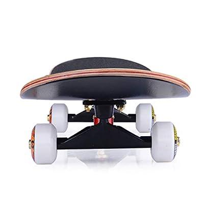 MLMHLMR Scooter Beginner Maple Skateboard Boy Girl Brush Street Dance Board Adult Four-Wheeled Skateboard Skateboard (Color : J): Home & Kitchen