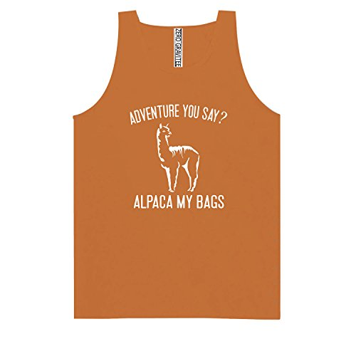 (ZeroGravitee Adventure You Say? Alpaca My Bags Adult Pigment Dyed Tank Top In Yam - Large)