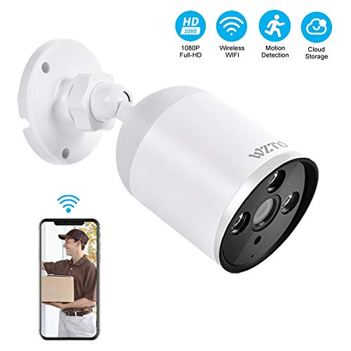 Outdoor Security Camera Wireless, WZTO 1080P HD Home?Security?Camera?System 2MP WiFi Smart Home Camera Motion Detection Two-Way Audio IP66 Waterproof Cloud Camera with MicroSD Slot & Cloud Storage
