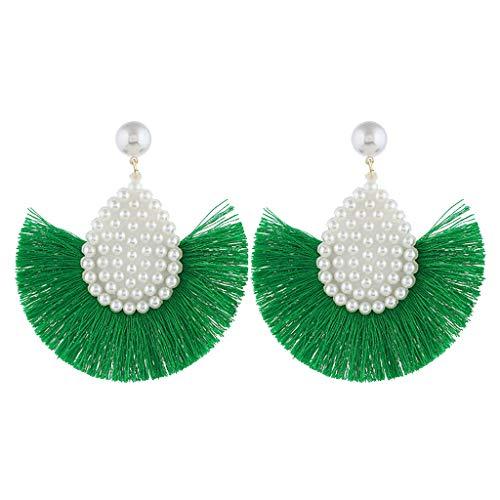 Earrings for Women,Mebamook FasFashion Shell Earrings Pendant Ladies Earrings Simple Paragraph Beach Wind (Earring Leverback Chalcedony)