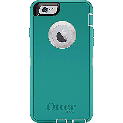 Rugged Protection OtterBox Defender Case for iPhone 6/6s, Case Only - Bulk Packaging - Seacrest (Whisper White/Light Teal) (Iphone Six Otterbox Defender Case)