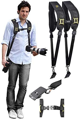 Shoulder Neck Dual Strap with Quick Release for Canon EOS M6 M50 M100 Rebel SL3