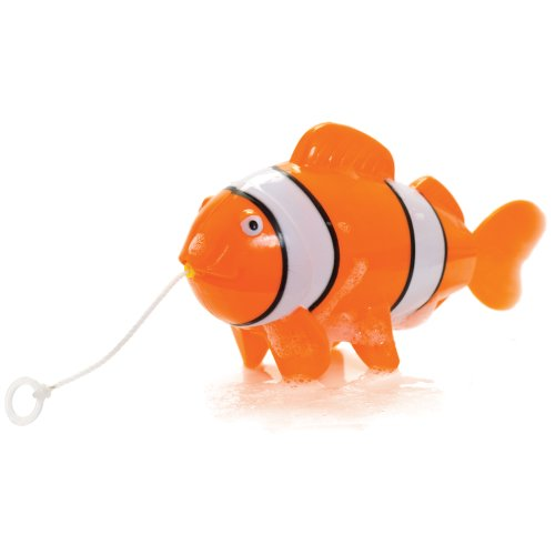 Bath Swimming toy for children - PULL STRING CLOWN FISH - *Large 17cm Fish*