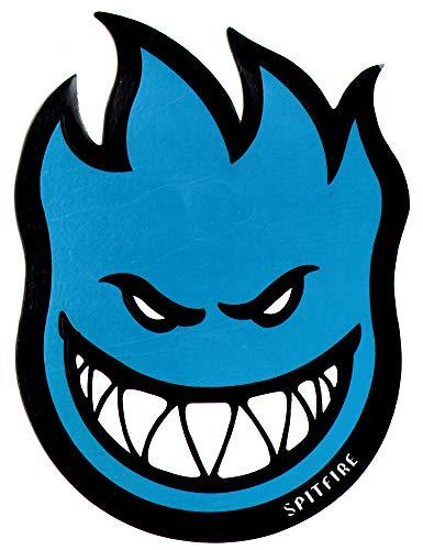 (Spitfire Wheels Blue Fireball Skateboard Sticker - Skate Board Flame fire Skate Skateboarding sk8)