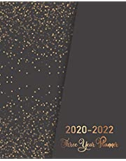 2020-2022 Three Year Planner: Golden Glitter Black Cover | 3 Year Monthly Planner 2020-2022 | 36 Months Calendar for Next Three Years | Daily Agenda ... 2020-2022 Three Year Monthly Calendar Diary)