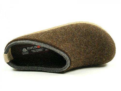 Haflinger Unisex-adult Grizzly Kris Bruine Slippers