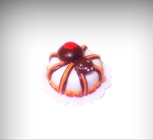 Dollhouse Halloween Cake with Giant Spider Handcrafted for