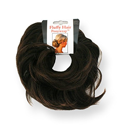 Mia Fluffy Hair Ponywrap-Ponytailer Made of Synthetic/Faux Hair-Instant Hair/Instant Volume! Dark Brown Color-One Size Fits All! (1 per piece per package) (Kmart Halloween Decoration Note)