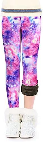 ZukoCert 3 Pack Fleece Lined Girls Leggings Thick Leggings Winter Warm Girls Tights Cashmere Plush Cotton Legg