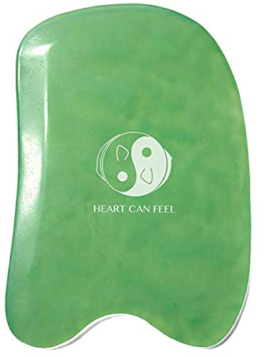 Best Jade Gua Sha Scraping Massage Tool - High Quality Hand Made Jade Guasha Board - Great Tools for SPA Acupuncture Therapy Trigger Point Treatment on Face [Square] ()