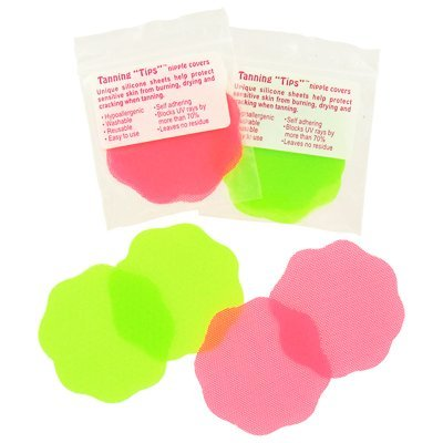 TANNING TIPS Silicone Nipple Covers - 1 pair by Nearly Me Technologies Nipple Covers