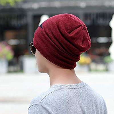XGao Knit Hat Men, Skull Caps for Men, Men Warm Baggy Weave Crochet Winter Wool Knit Ski Beanie Caps Hat Hats for Womens Keep Manual Knitted Earmuffs: Sports & Outdoors