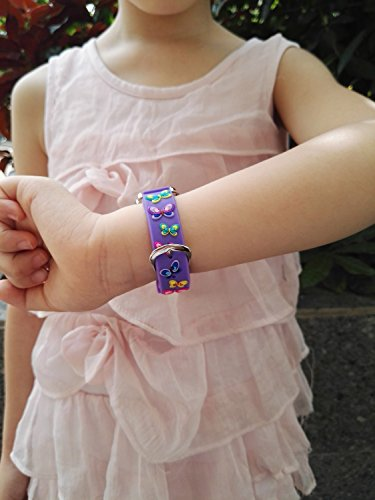 Children Kids Toddler Watches Age 4-7 Time Teacher Watches, Cartoon Character 3D dinosaur Silicone Band Watches (Purple - Butterfly) by Jewtme (Image #6)