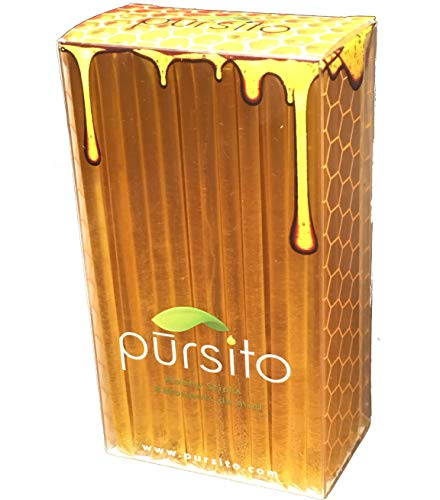 PURE Color Free Honey Sticks - Set of 100 Pursito Brand Pure & Natural Bulk Honey Stix or Honey Straws Honey Stick for Tea, Coffee or Snacking with a Jarosa Organic Beeswax Chocolate Lip Balm by Pursito