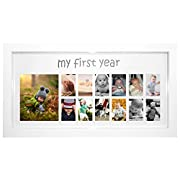 ImpressionMemories  My First Year Photo Moments Baby Keepsake Frame