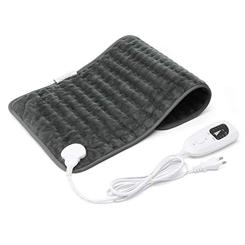 Bromose Heating Pad Warm Soft Flannel Electric Heat Pads with 6 Temperature Setting Auto Shut Off Overheat Protect, Machine Washable for Back Pain Muscle Soreness Neck Shoulder Pain Relief (12