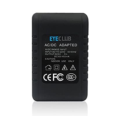 Eyeclub Wi-Fi Hidden Camera Adapter Improved Motion Activated Video Spy Camera HD Wireless IP Security Surveillance Nanny Camera with Soft Finish by Eyeclub