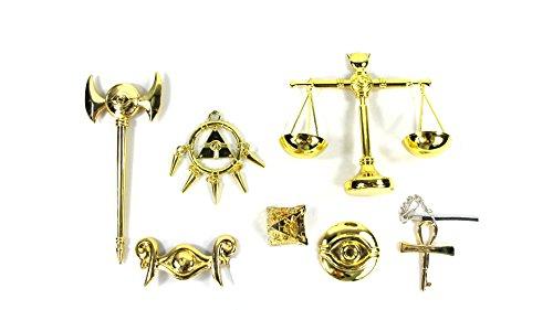 Yugioh Millenium Puzzle Ring Scale Rod Key Necklace Eye