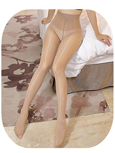 - 8D High Waist Oil Shiny Tights For Women Lingerie Hot Ultrathin 1-Line Gloss Sexy Pantyhose skin