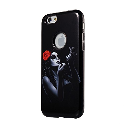 "Hülle iPhone 6 / 6s , LH Make-up-Mädchen Combo TPU Weich Muschel Tasche Schutzhülle Silikon Handyhülle Schale Cover Case Gehäuse für Apple iPhone 6 / 6s 4.7"""