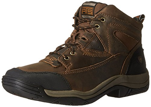 Ariat Men's Terrain Wide Square Toe Hiking Boot, Distressed Brown, 9 D US ()