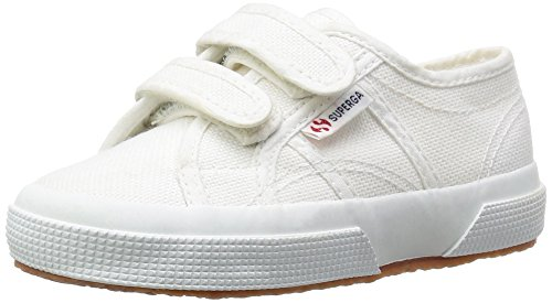 Superga 2750 Cotu Junior Velcro Kids Trainers White - 1.5 UK by Superga