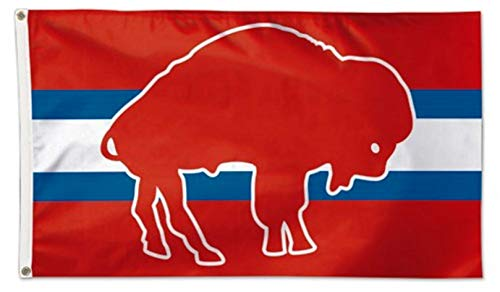 Stockdale Buffalo Bills Retro Logo with Bar WC Premium 3x5 Flag Outdoor House Banner ()