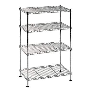 Sandusky Lee WS201232-C Industrial Welded Wire Shelving, 20  Width x 32  Height x 12  Depth, Chrome
