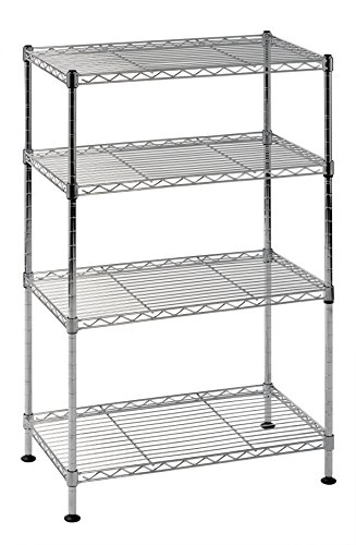 Sandusky Lee WS201232-C Industrial Welded Wire Shelving, 20' Width x 32' Height x 12' Depth, Chrome