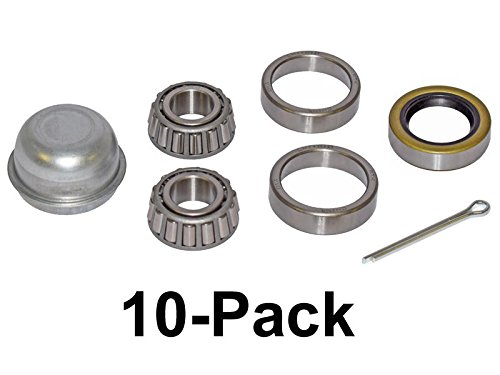 Trailer Bearing Repair Kit For 3/4 Inch Straight Spindle - 10-Pack (17625-10) by Rigid Hitch