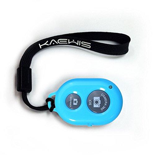 KAEWIS Wireless Camera Shutter Remote Control for Smartphones -Bluetooth Shutter for Selfie camera for iPhone, Smartphones (Blue)