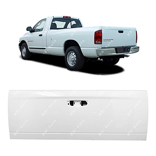 MBI AUTO - Painted PW7 White Steel Tailgate Shell for 2002-2008 Dodge Ram 1500 2500 3500 02-08, CH1900121