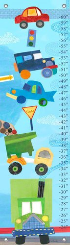 Oopsy daisy on the Road Growth Chart, 12 by 42 Inches (Growth Chart Cars compare prices)