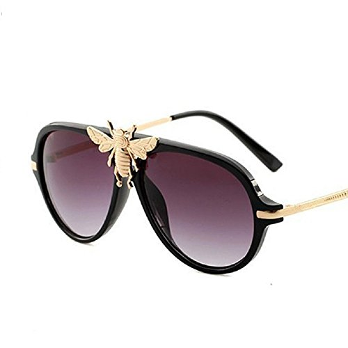 MINQY Women Sunglasses 2018 Bee Fashion Vintage Oversized Summer ()