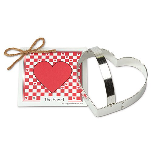 Heart-Cookie-and-Fondant-Cutter-Ann-Clark-41-Inches-US-Tin-Plated-Steel