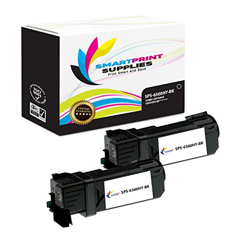 Smart Print Supplies Compatible 106R01597 Black High Yield Toner Cartridge Replacement for Xerox Phaser 6500, WorkCentre 6505 Printers (3,000 Pages) - 2 Pack ()