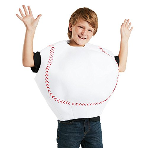 FunFill Child Baseball Costume One Size Fits Most -