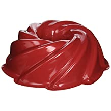 Nordicware 10 Cup Heritage Formed Bundt Pan 50222, Red