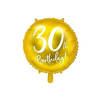 Amazon.com: Party Deco - Globo redondo de 30 cumpleaños ...